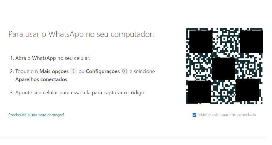 escanear qr code WhatsApp Web