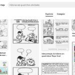 Histórias em quadrinhos em branco para preencher e completar